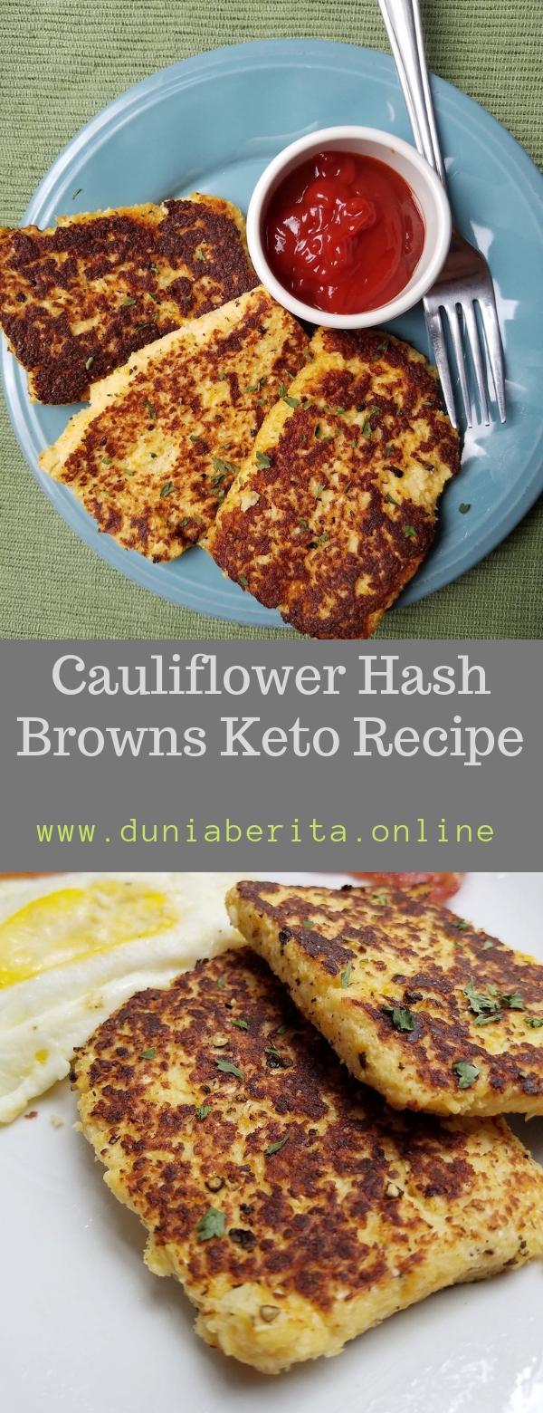 Cauliflower Hash Browns Keto Recipe