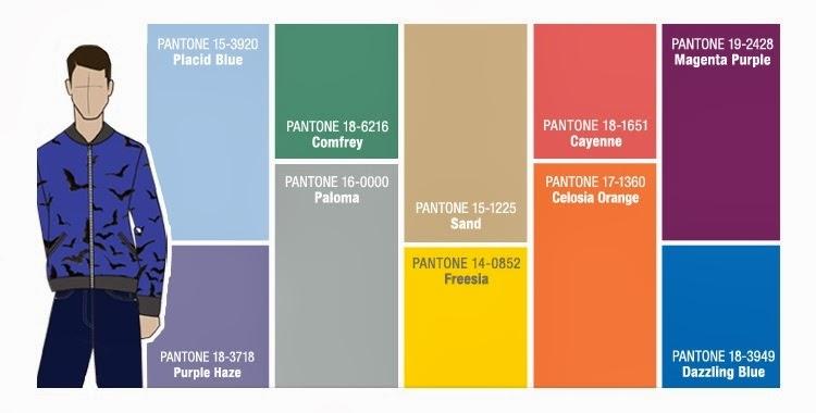 Paleta Pantone para Hombre Primavera Verano 2014
