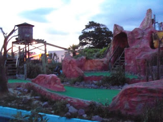 Adventure Putting Golf course at Bottons Pleasure Beach in Skegness, Lincolnshire