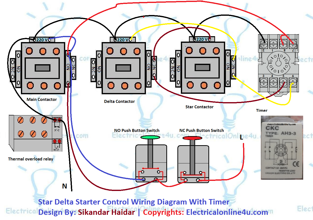 Star Delta Control Wiring Diagram With Timer Carnival Cruise Ship Electrical 4u