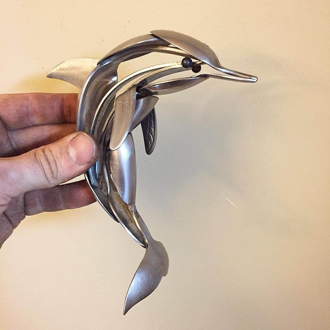 10-Dolphin-Matt-Wilson-Recycled-Animal-Cutlery-Sculptures-www-designstack-co