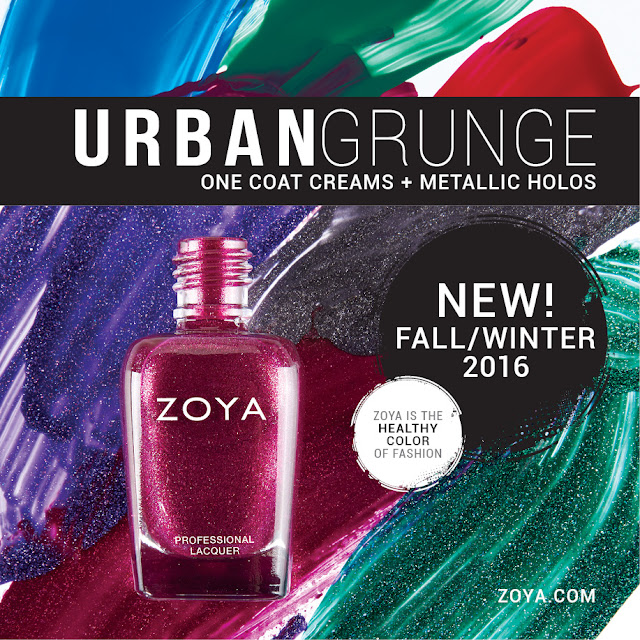 ZOYA - URBAN GRUNGE FALL 2016 COLLECTION