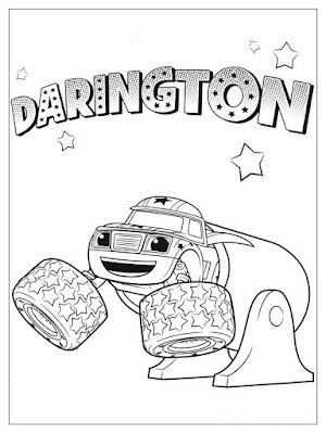gambar mewarnai darington blaze and the monster machines