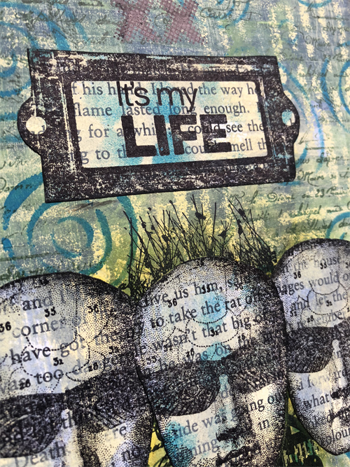 PaperArtsy Seth Apter Fresco Paints - FFSA03 and Hot Picks HP1504 by Nikki Acton