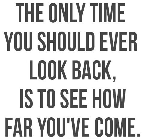 the only time you should ever look back is to see how far you have come - Inspirational Positive Quotes with Images