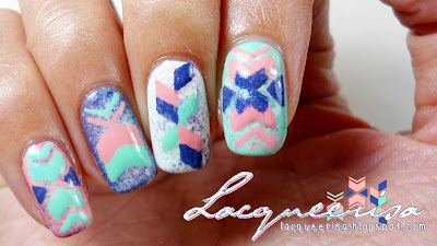 piCture pOlish Blog Fest 2013 - Pattern of Arrows by Lacqueerisa