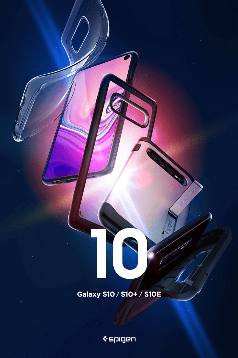 Cases are for the Samsung Galaxy S10, S10+ and the S10e