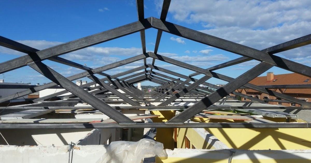 Estructura met lica para cubierta estructuras met licas naves 644 348 747 madrid 91 616 06 61 - Estructura metalica cubierta ...