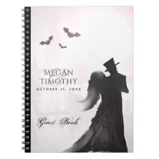 Gothic Love Romance Custom Wedding GuestBook Notebook