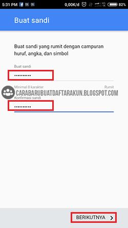 buat akun gmail tanpa nomor telepon