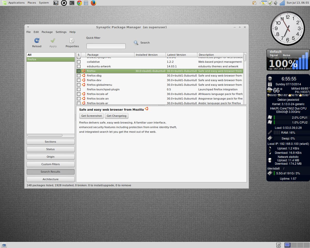 jfn linux project: Linux Mint 17 Mate