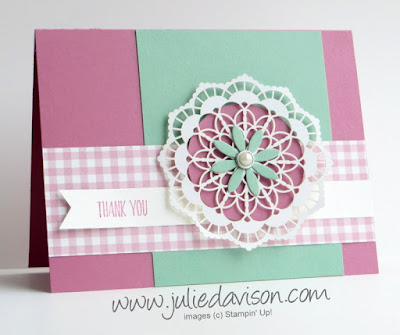 Stampin' Up! All Things Thanks ~ Lace Doilies ~ 2017 Occasions Catalog ~ www.juliedavison.com #GDP078