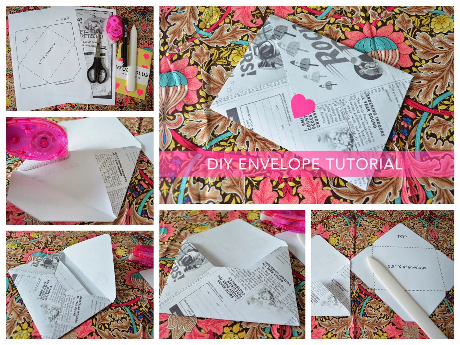 Photo tutorial to make a DIY envelope