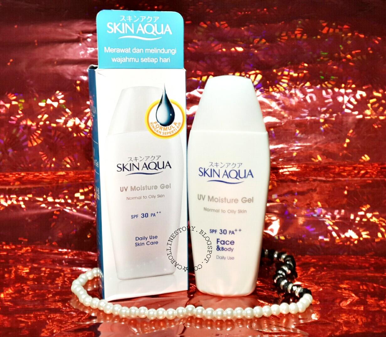 Review Skin Aqua Uv Moisture Gel Spf 30 Pa Sunscreen Bagus Untuk Kulit Berminyak Jerawat Carolline S Beauty Blog