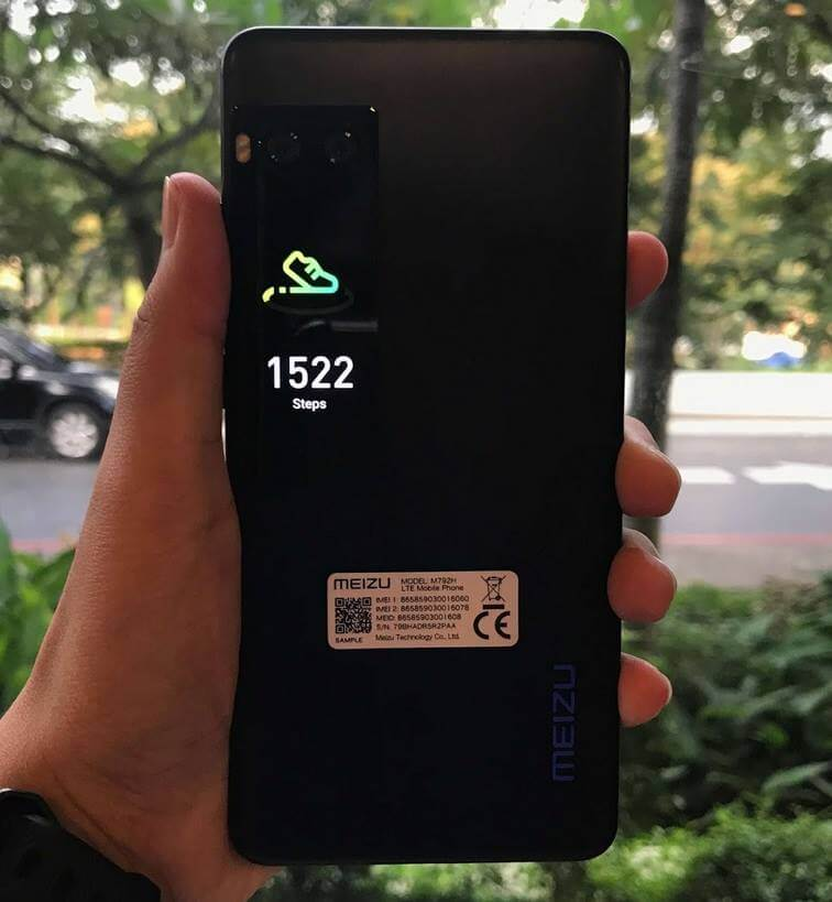 Meizu Pro 7 Secondary Screen Displays Number of Steps