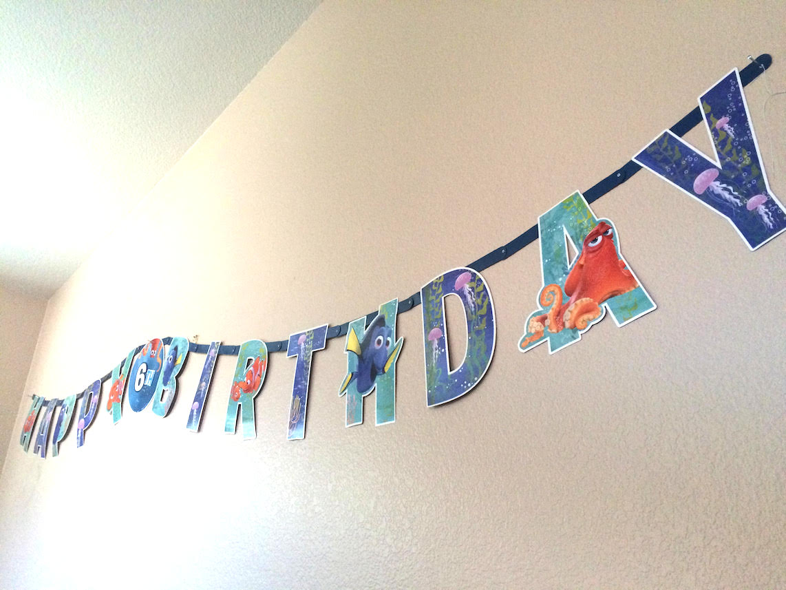 Printable Birthday Banner ~ Finding dory party ideas free printable finding dory party favor