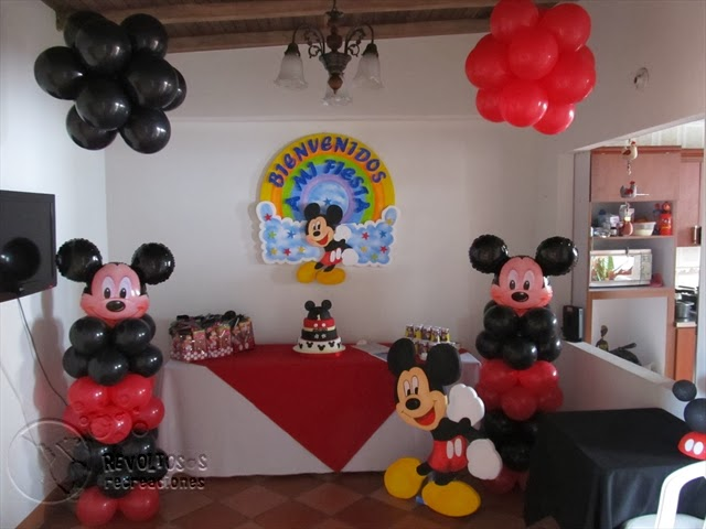 DECORACION MICKEY MOUSE 2 FIESTAS INFANTILES RECREACIONISTAS MEDELLIN