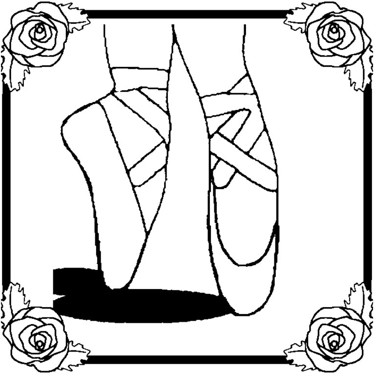 ballerina slippers coloring pages - photo#1