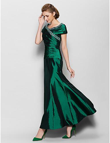 Green Taffeta Mother of the Bride Dress