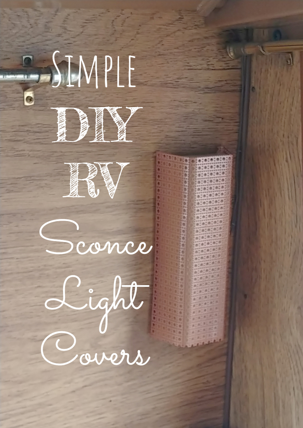 Simple DIY RV Sconce Light Covers