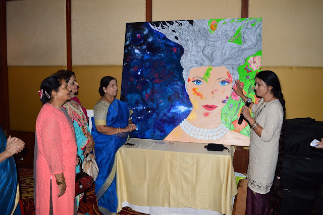 Artist Ritu Dua and Manda Mhatre, a member of the 13th Maharashtra Legislative Assembly representing the Belapur Assembly Constituency unveiled the collaborative art piece titled