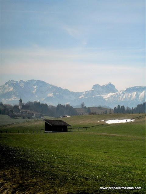 ruta en tren por Baviera