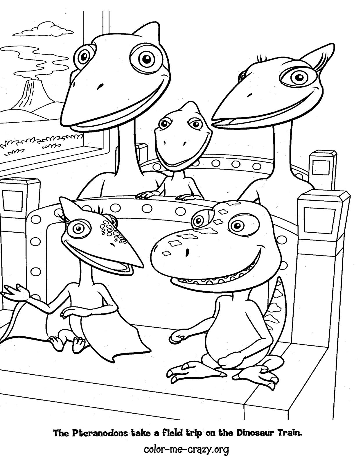 free printable coloring pages dinosaur train | ColorMeCrazy.org: Dinosaur Train Coloring Pages