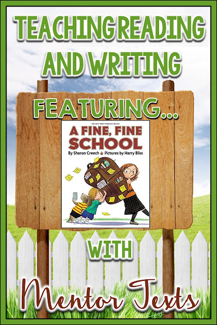 A Fine, Fine School- Mentor Text for teaching about identifying an author's perspective or an author's point of view! Includes a FREE follow-up worksheet!