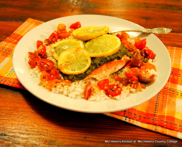 Lemon Caper Salmon at Miz Helen's Country Cottage