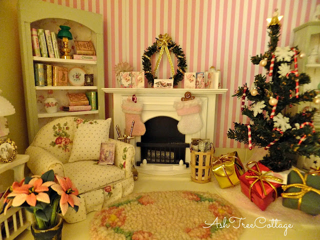 the very girly girl fairies live in the shabby chic miniature rooms - Dollhouse Christmas Decorations