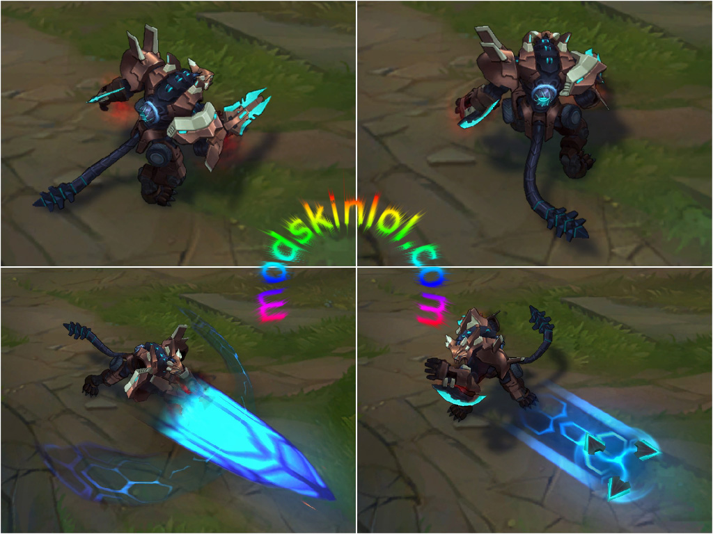 Mod Skin Mecha Rengar & All Chroma Skins