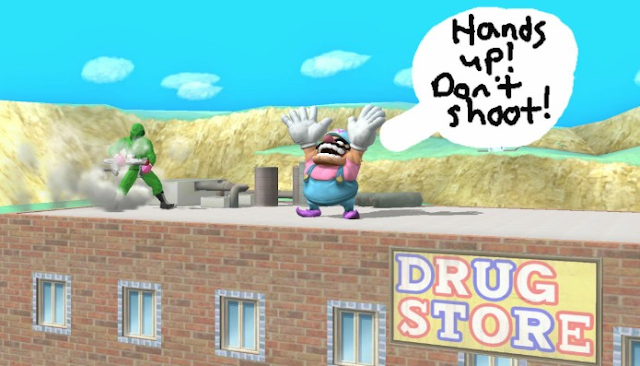Hands Up Don't Shoot Super Smash Bros. For Wii U