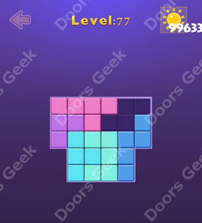 Cheats, Solutions, Walkthrough for Move Blocks Easy Level 77