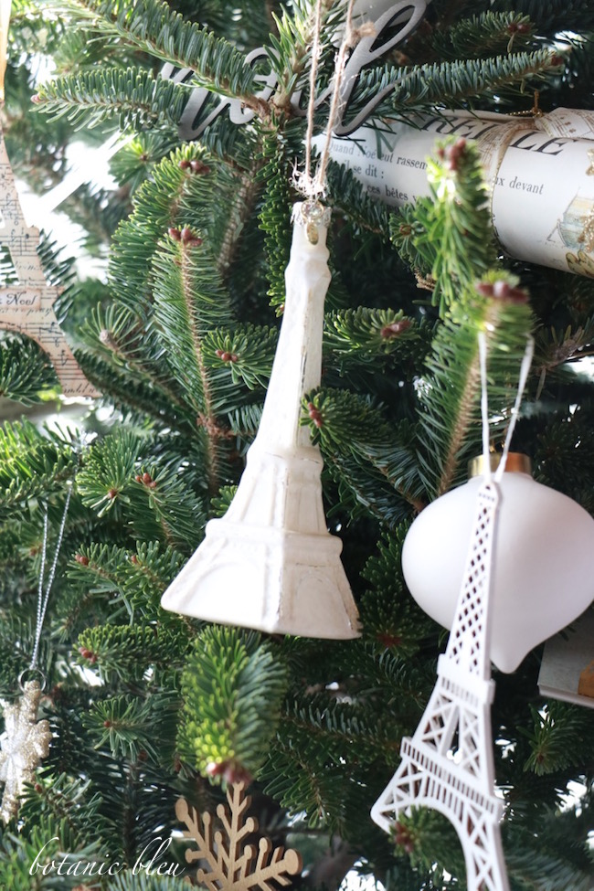 Eiffel Tower Christmas Tree Ornament