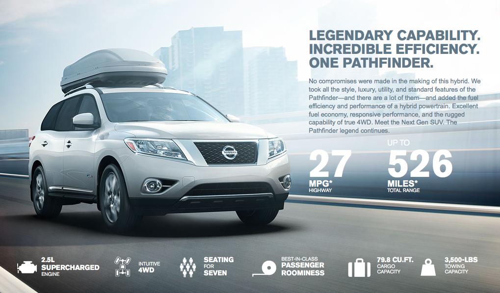 Automotive News: 2014 Nissan Pathfinder Hybrid