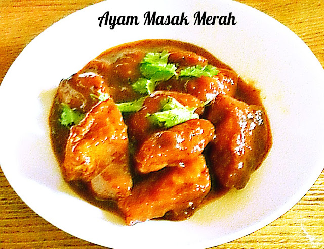 Ayam Masak Merah /Chicken in Spicy Red Sauce @ treatntrick.blogspot.com