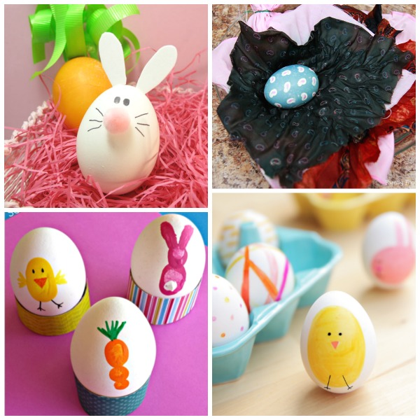 20 MESS FREE WAYS FOR TODDLERS TO DECORATE EGGS.  these are fantastic!  {No more stained skin}