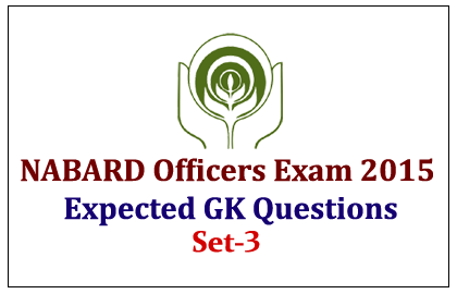 GK Questions for NABARD Officers Exam