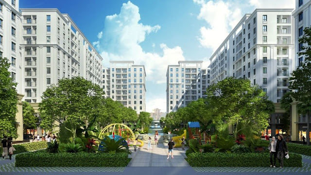 Cảnh quan chung cư FLC Hà Khánh