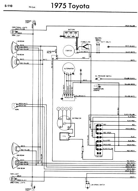 toyota_hilux_1975_wiringdiagrams  Pin Trailer Wiring Harness Toyota Sequoia on