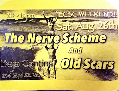 Norfolk Scene Flyers - The Nerve Scheme and Old Scars - Baja Cantina