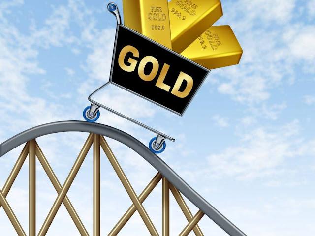Precio del oro cae