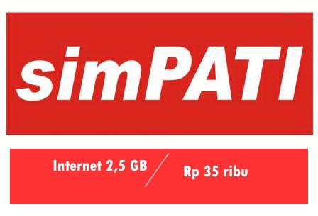 Daftar Paket Internet Murah Telkomsel 2.5GB