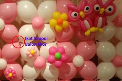 Contoh Dekorasi Pernikahan Dengan Balon Ekor / Balon Link