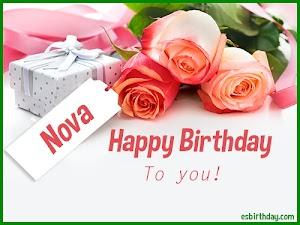 Happy Birthday Nova