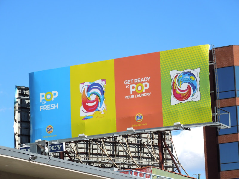 Tide Pop Fresh billboard
