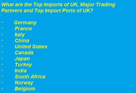 Trading Partners of uk