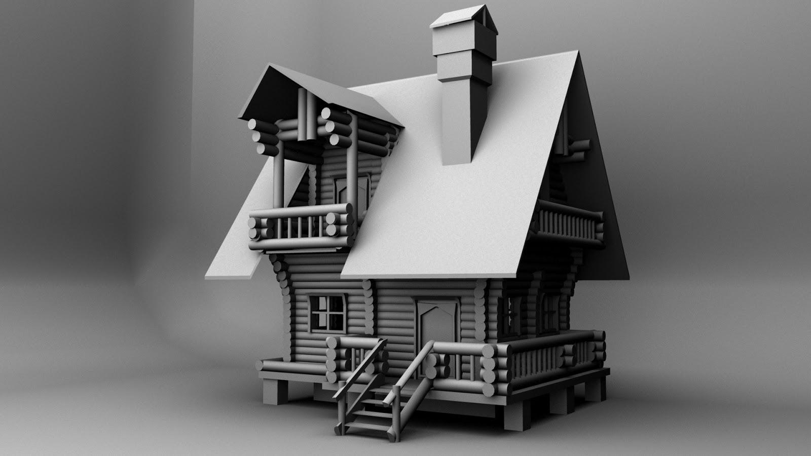 Cartoon House (3D Modeling)