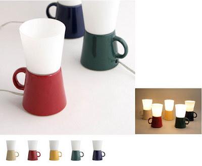 Lamparas  con forma de taza