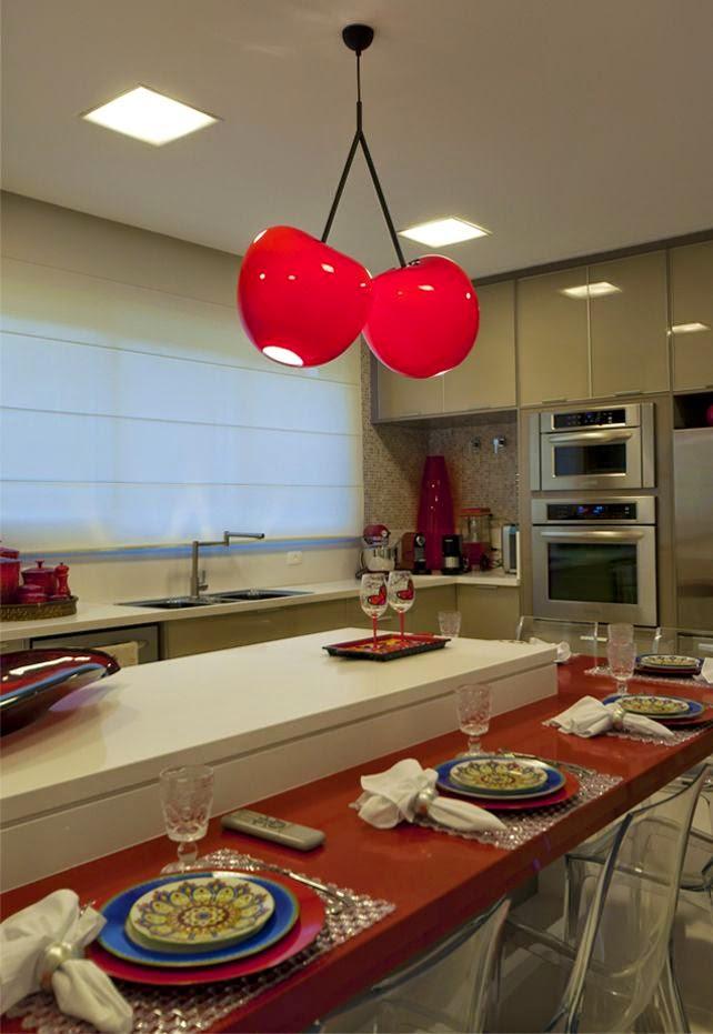 decoração da -cozinha-vermelha